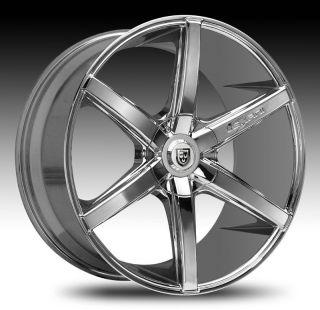 22 Lexani Wheels R 06 Stagger Chrome Rims BMW 745 750 Challenger S550
