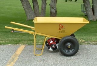 Gas Powered Wheelbarrow Two Wheels Honda Motor