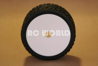 RC 1 8 CAR BUGGY TRUCK TIRES WHEELS RIMS PACKAGE WHITE DISH STREET
