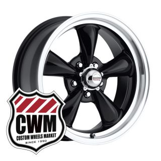 17x7 Black Wheels Rims 5x4 75 Lug Pattern for Chevy Corvette 1956