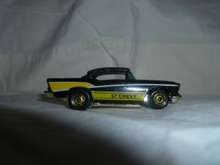 Hot Wheels 57 Chevy Bel Air Black BW No Engine Hong Kong 1978