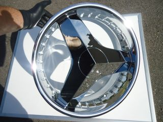 20 Helo 357 Chrome Wheels Rims 3 Blade Brutus 5x110 New Saturn Saab