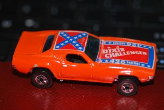 1981 Hot Wheels Dixie Challenger 3364 Orange 426 Hemi Rebel Flag on