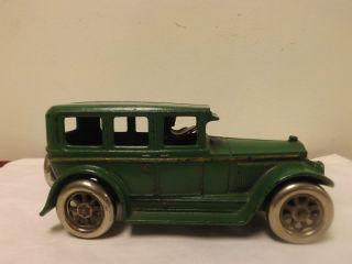 RARE Arcade 1927 Cast Iron Red Buick Sedan Spoke Wheels