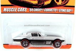 HOT WHEELS 64 CORVETTE STING RAY TOP 10 ROD SINCE 68 SERIES REDLINE