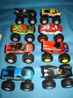 Hot WHeels 1 64 Monster Jam Truck Lot Superman Batman Cyborg Rap