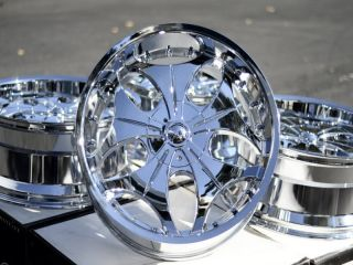 22 Chrome Wheels Rims Avalanche Sierra Yukon Nissan Armada Titan