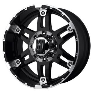 18 inch Black wheels rims KMC XD 797 SPY Jeep Wrangler 2007 2012 only