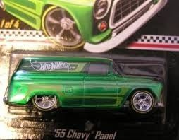 HOT WHEELS 55 CHEVY PANEL DELIVERY TRUCK REAL RIDERS HUNT LIMITED MAIL
