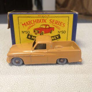 Matchbox Moko No 50 Commer Pick Up Mk VIII Grey Wheels Box Super Rare