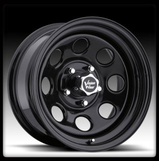 VISION 85 SOFT 8 BLACK 5X120 65 5X4 75 S10 PICKUP WHEEL RIMS 15 INCH 6