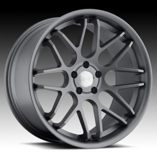 20 EURO TEK UO06 GUNMETAL RIMS WHEELS G35 MUSTANG LEXUS IS250 GS300