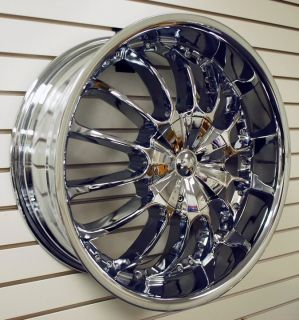 Side Triple Chrome Wheels Rims Tires Pkg 6x135 Ford Lincoln