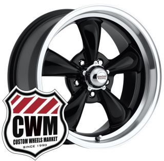 17x8 Black Wheels Rims 5x4 50 Lug Pattern for Ford Mustang 1969