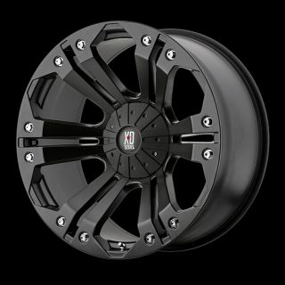 MONSTER BLACK WITH 275 65 20 NITTO TERRA GRAPPLER AT TIRES WHEELS RIMS