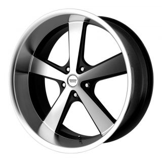 17 inch Black Nova Wheels Rims 5x4 75 5x120 65 GTO Camaro Impala