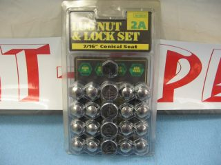 Lock Set 7 16 Conical Seat Acorn Chevrolet Rat Rod Black Rim 20
