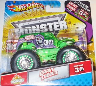 2012 Hotwheels Monster Jam Grave Digger Spectraflame 30th Anniversary
