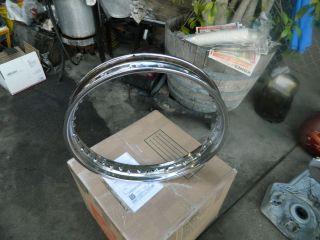 Triumph Bonneville Tiger T 120 TR 6 Dunlop Rear Wheel Rim 18 X 3 OEM
