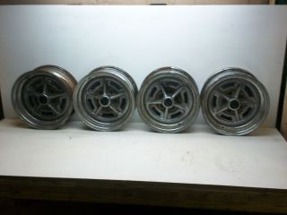 USED 70 92 CAMARO FIREBIRD STEEL RIMS 14 X 6 ORIGINAL GM RALLY WHEELS