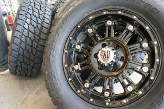 18 XD795 Hoss Gloss Black Wheels Rims 325 65R18 Nitto Terra Grappler