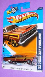 2012 Hot Wheels 66 Ford 427 Fairlane 112  Red Line