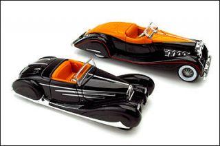 Hot Wheels Classic Bodies Duesenberg Bugatti set w display case 1 64 S