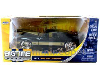 Jada 1973 73 Ford Mustang Mach 1 1 24 Diecast Dub Wheels Black