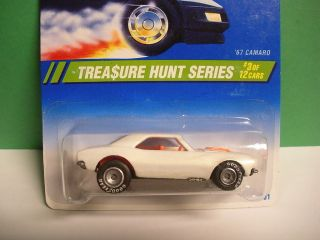 Hot Wheels 1995 Treasure Hunt #3/12 67 Camaro Pearl White with Real