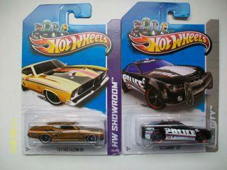 2013 Hot Wheels Treasure Hunts 10 Camaro SS and Secret Super 73 Ford