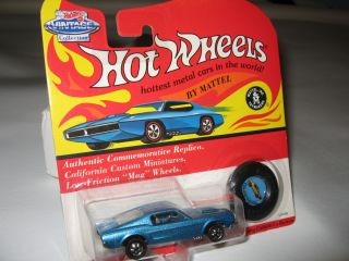 Hot Wheels Vintage Collections 67 Mustang Lt Blue Metallic