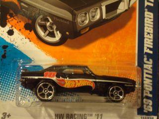 Hot Wheels 2011 HW Racing Series 69 Pontiac Firebird T A New Black 157