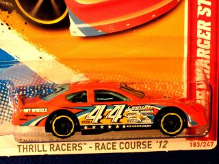 Hot Wheels 2012 Dodge Charger Stock Car Orange 44 Multi Logos Graphics
