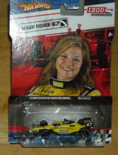 Hot Wheels IZOD Indy Car Series Sarah Fisher 67