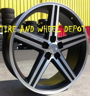 20 INCH BLACK IROC RIMS WHEELS AND TIRES CHEVELLE BMW 745 750 SKYLARK