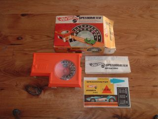 Hot Wheels Red Line Speedometer Original Box Stickers Pre 70S
