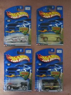 2002 Hot Wheels Grave Rave Series Complete Lot of 4