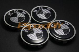 BMW Real Carbon Fiber CF Rim Wheel Hub Center Caps E39 E60 M5 E90 E92