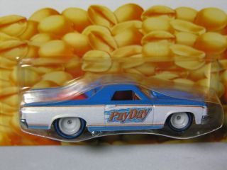 Hot Wheels 2012 Nostalgia 71 El Camino Payday White Blue Hersheys II