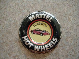 1967 Hotwheels Redline Silhouette Mattel Pin Badge VG