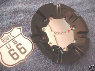 Maas Black Chrome Wheel Center Cap Part Maas 23 on Back of Hub