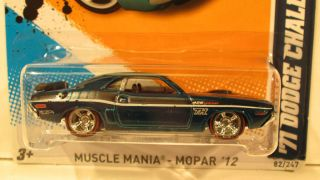 CHALLENGER 1971 2012 SUPER Hidden secret TREASURE HUNT Hot Wheels
