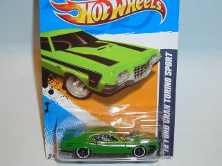 Muscle Mania 117 `72 Ford Grand Torino Sport Green Black Rim