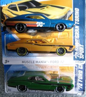 Hot Wheels 13 Super Treasure T Hunt 72 Ford Gran Torino Sport GT351 V8