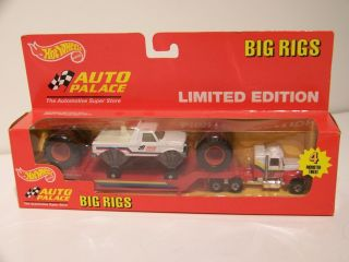 Hot Wheels Auto Palace Big Rigs Lowboy / Monster Truck, Steering Rigs