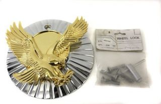 Luxor Wire Wheels Eagle Center Cap Spinner Gold Chrome 80 Spoke