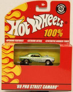 Hot Wheels 40th Anniversary 69 Pro Street Camaro Green 1 64