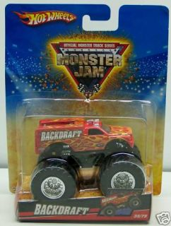 Hot Wheels Backdraft Monster Jam Truck 35 75 Flames