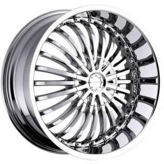 22x9.5 Chrome Strada Spina Wheels 5x4.75 5x5 +18 JEEP WRANGLER RUBICON