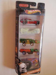 Hot Wheels Halloween 5 Pack Cars Assortment New